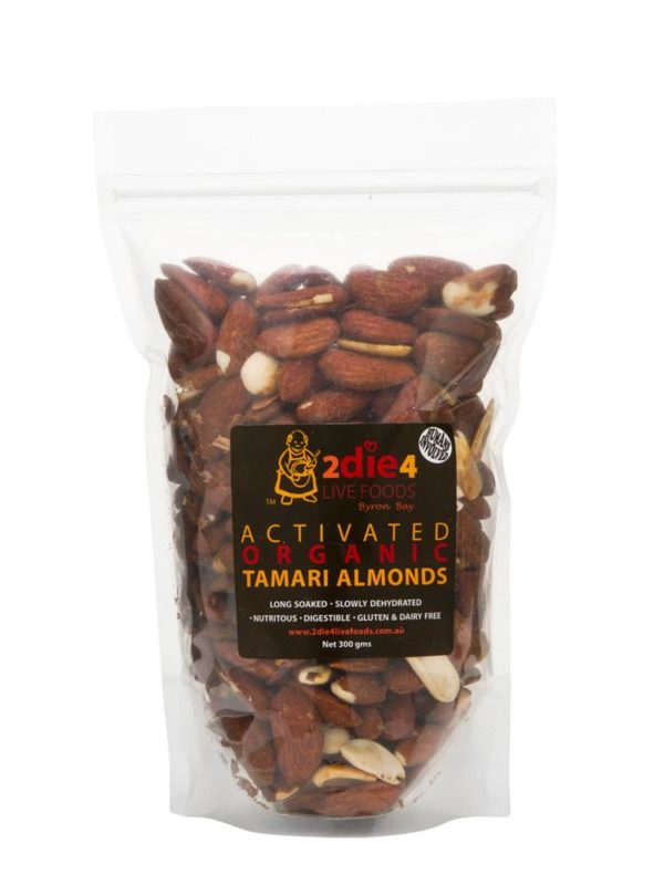 Activated Organic Tamari Almonds, 2die4livefoods organic nuts buy online at Yo Life