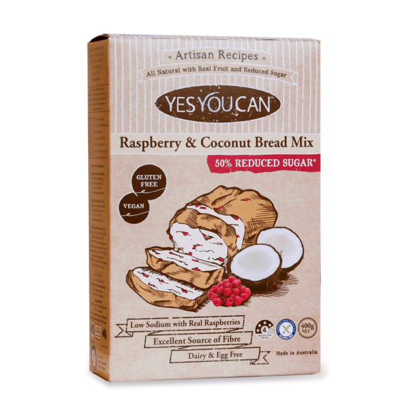 making bread Yes You Can Raspberry and Coconut Bread Mix, Gluten Free buy online at Yo Life