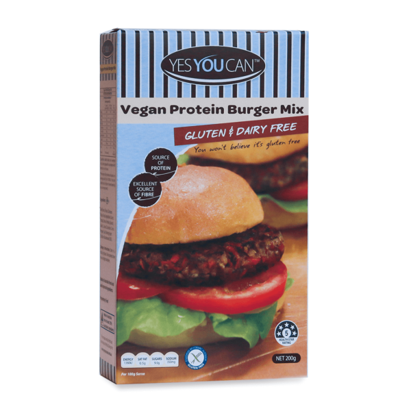 Gluten free Yes You can Vegan Protein Burger mix buy online at Yo Life
