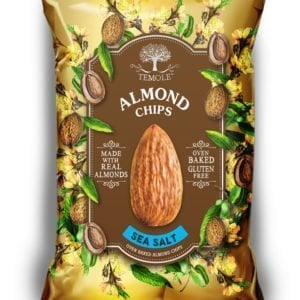 Temole Almond Chips – Sea Salt – 12 pack