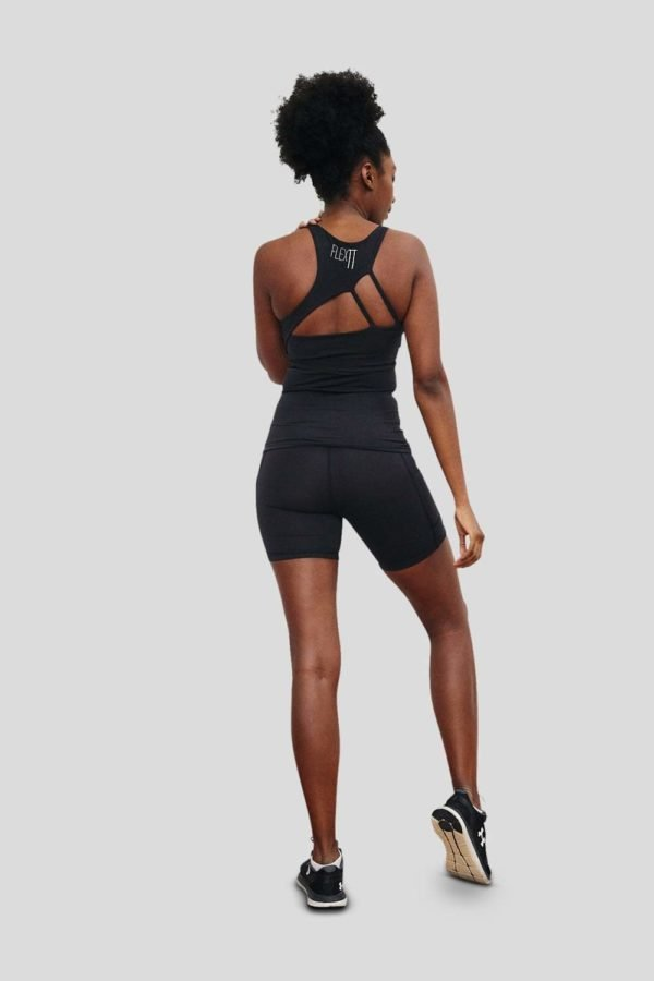 australian activewear Flextt sculpt me singlet black gym clothes for women buy online at Yo Life