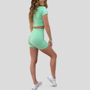 australian activewear Flextt sweet set green womens activewear buy online at Yo Life